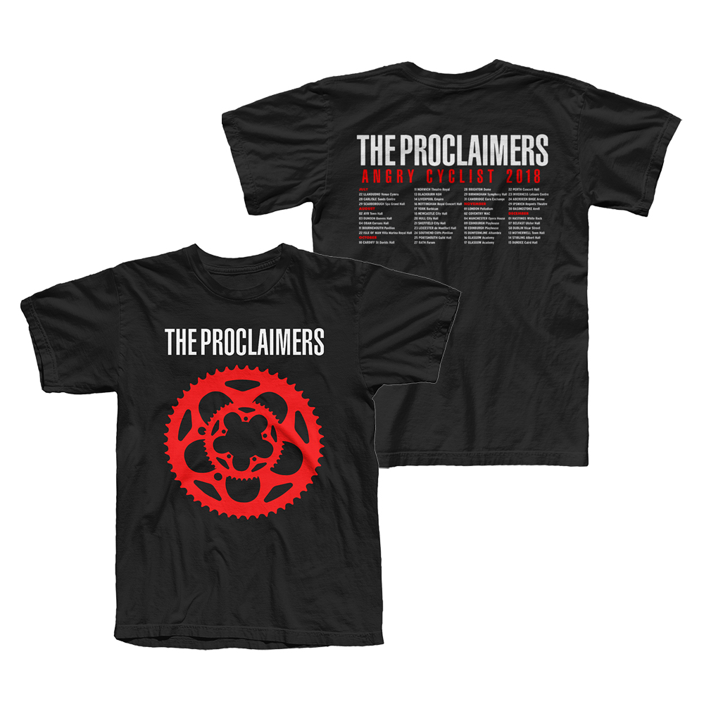 Buy Online The Proclaimers - Angry Cyclist Tour T-Shirt