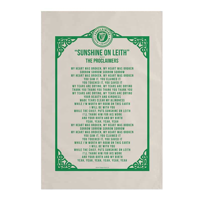 Buy Online The Proclaimers - Lyric Tea Towel