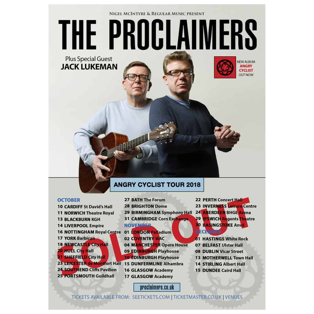Buy Online The Proclaimers - A3 Tour Poster