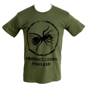 Buy Online The Prodigy - Corps on Military Green T-Shirt
