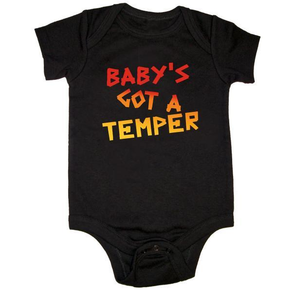 Buy Online The Prodigy - Baby's Got A Temper Baby Onesie
