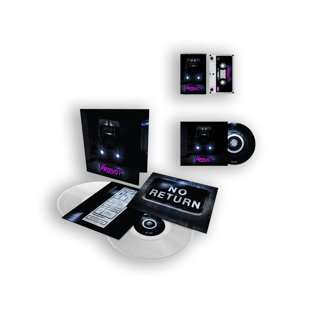 Buy Online The Prodigy - No Tourists 'Prodigy Store Exclusive' Clear Gatefold Double Vinyl, CD & Tape Bundle