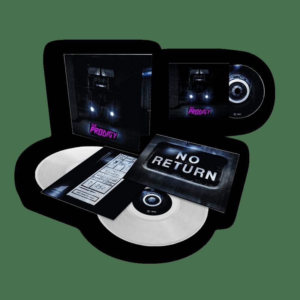 Buy Online The Prodigy - No Tourists 'Prodigy Store Exclusive' Gatefold Clear Double Vinyl & CD Bundle