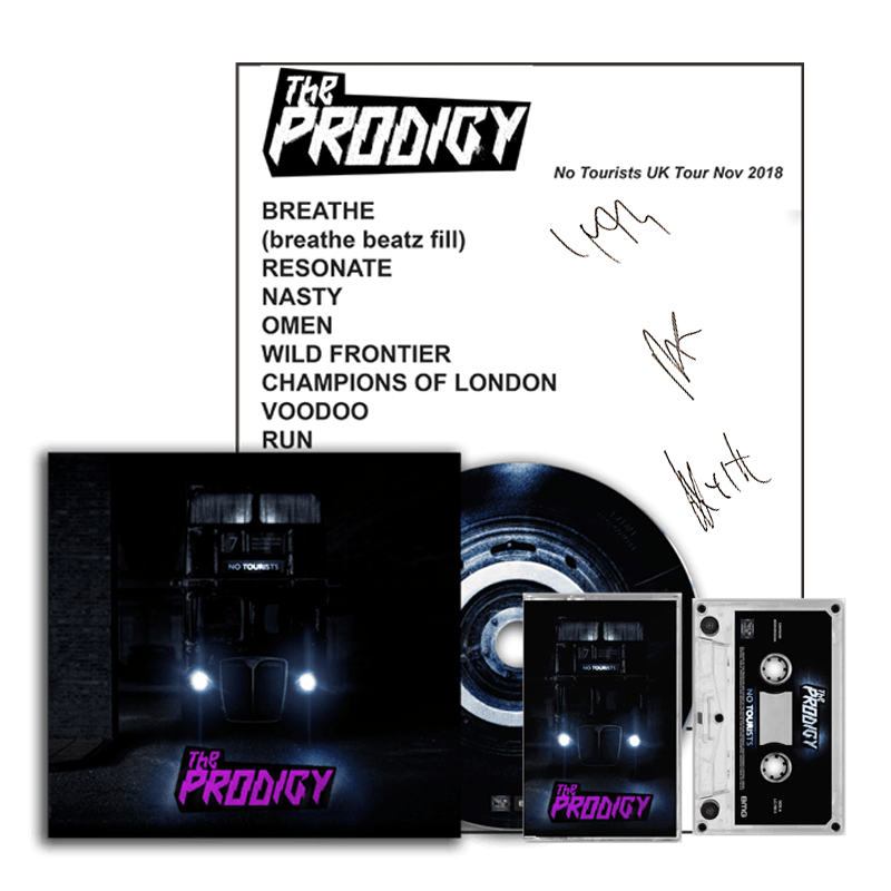 Buy Online The Prodigy - No Tourists CD, Cassette and Setlist
