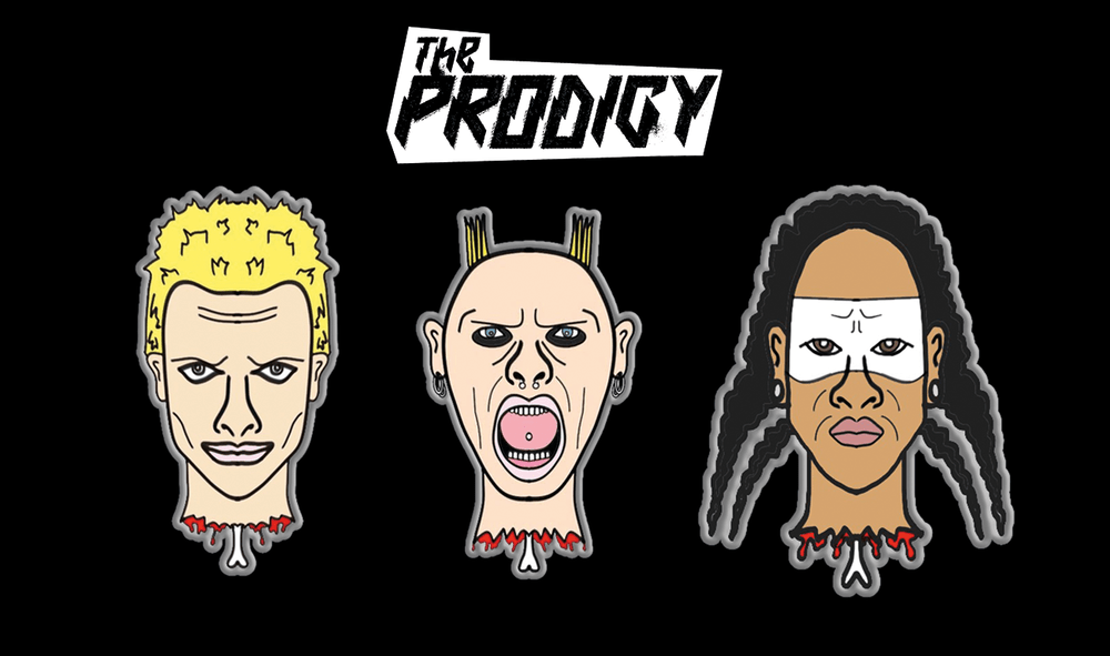 Buy Online The Prodigy - Severed Heads Badge Set