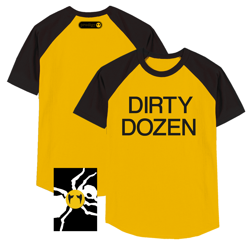 Buy Online The Prodigy - Keef Flint 'Dirty Dozen' T Shirt & Badge