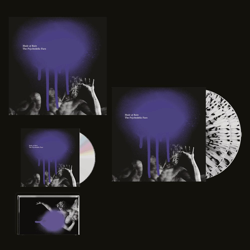 Buy Online The Psychedelic Furs - Made Of Rain CD + Splatter Vinyl + Cassette + 12-Inch Art Print (Signed)
