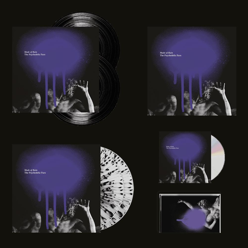 Buy Online The Psychedelic Furs - Made Of Rain CD + Splatter Vinyl + Black Vinyl + Cassette + 12-Inch Art Print (Signed)