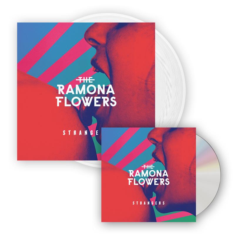Buy Online The Ramona Flowers - Strangers White Vinyl LP (Signed) + CD Album (Signed)