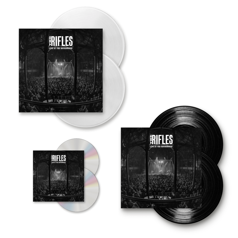 Buy Online The Rifles - Live At The Roundhouse CD + Double White Vinyl + Double Vinyl