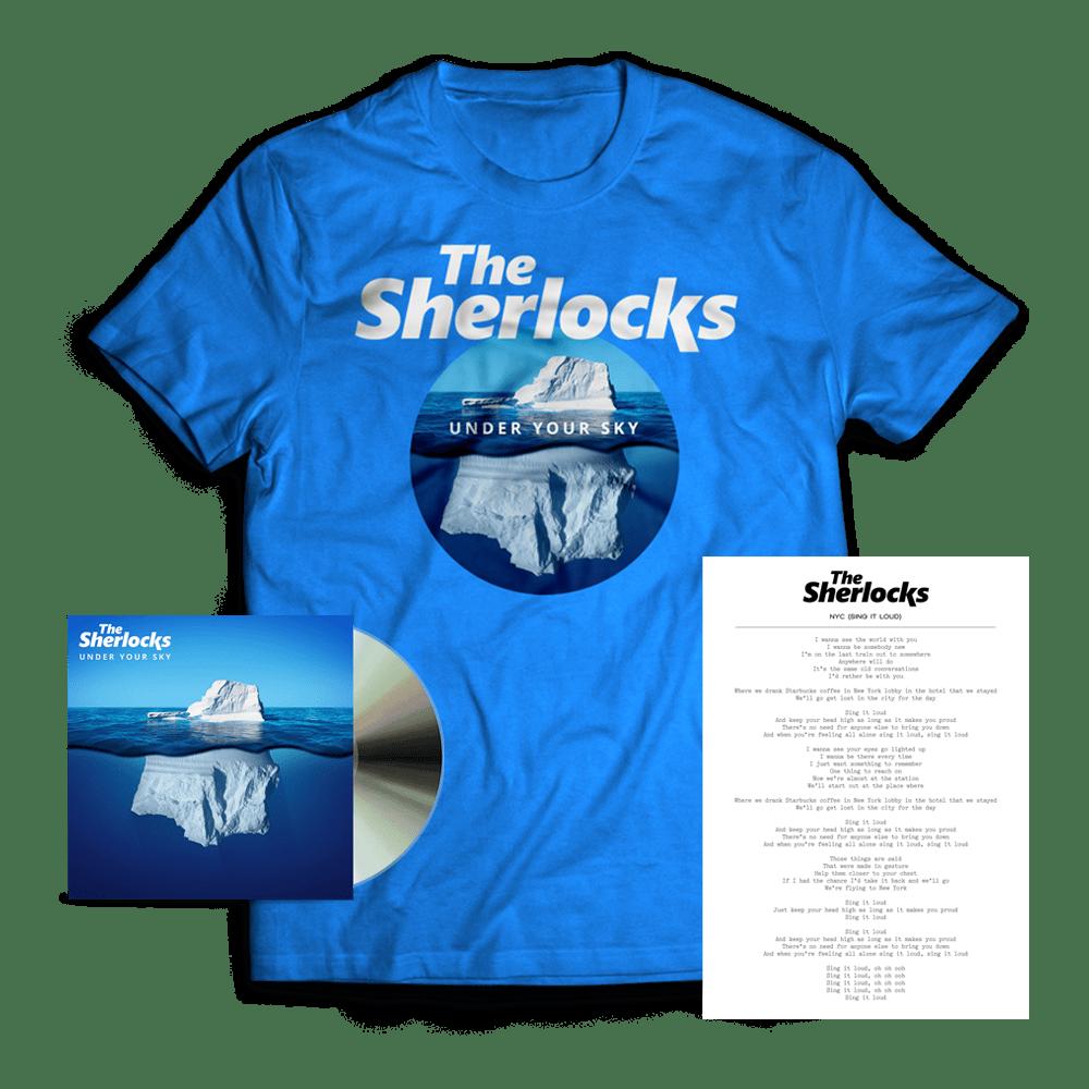 Buy Online The Sherlocks - Under Your Sky CD (Signed) + T-Shirt + Lyric Sheet