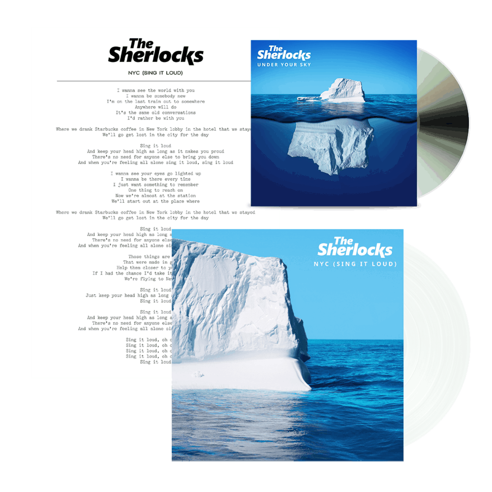 Buy Online The Sherlocks - Under Your Sky CD Album + NYC Clear 7-Inch Vinyl + Lyric Sheet