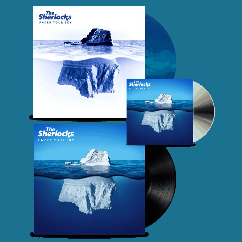 Buy Online The Sherlocks - Under Your Sky CD (Signed) + Vinyl (Signed) + Ltd Edition Vinyl (Signed)