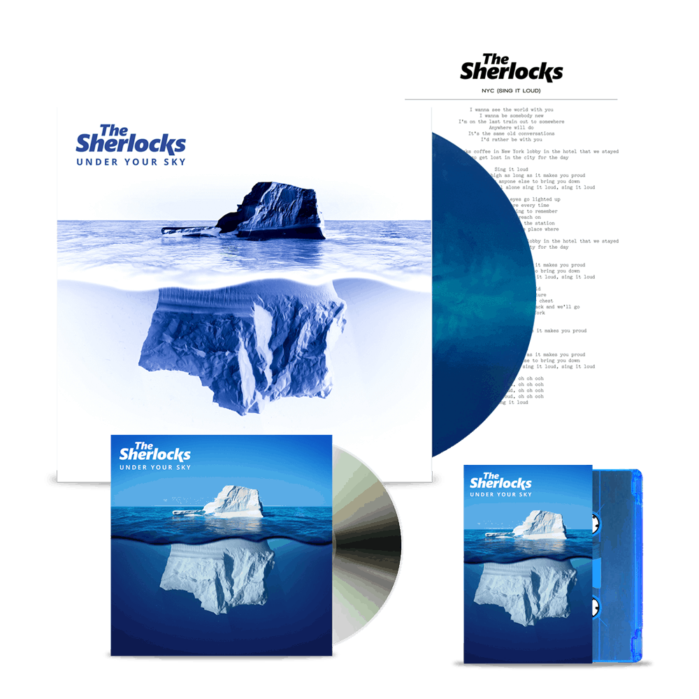 Buy Online The Sherlocks - Under Your Sky CD (Signed) + Ltd Edition Vinyl (Signed) + Cassette + Lyric Sheet
