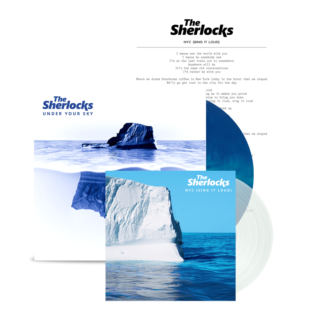 Buy Online The Sherlocks - Under Your Sky Vinyl (Ltd Edition) (Signed) + NYC Clear 7-Inch Vinyl + Lyric Sheet