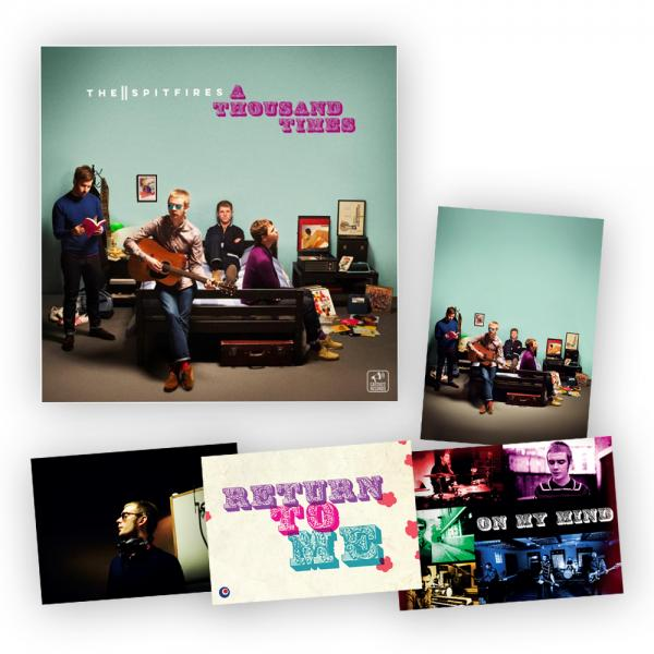 Buy Online The Spitfires - A Thousand Times Black Vinyl LP + Postcard Set
