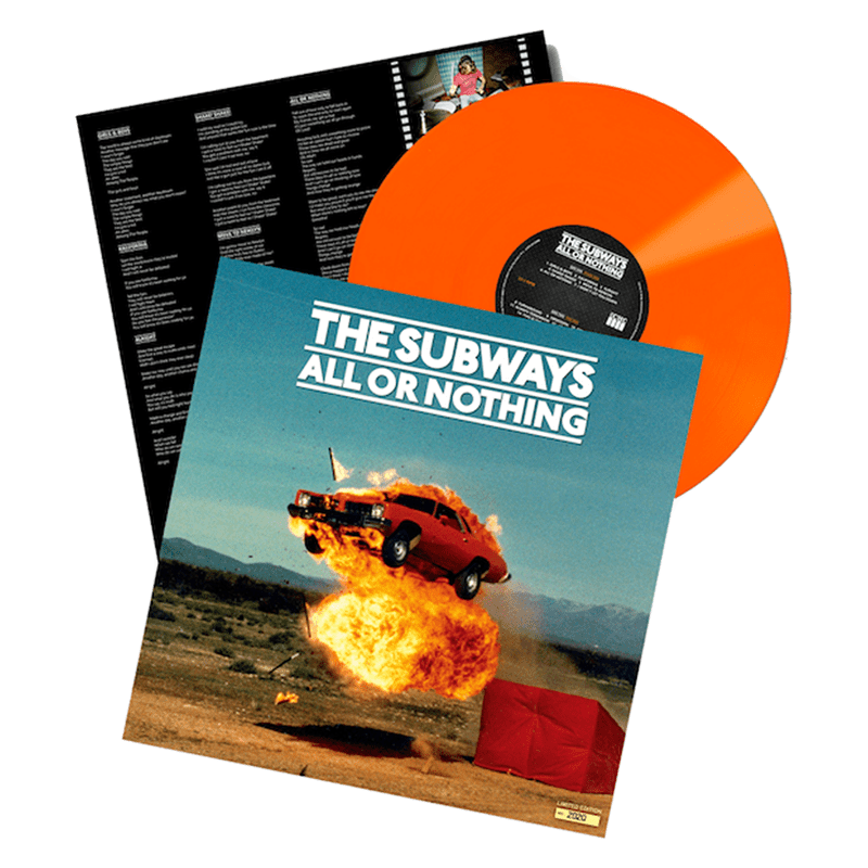 Buy Online The Subways - All Or Nothing Orange with signed poster