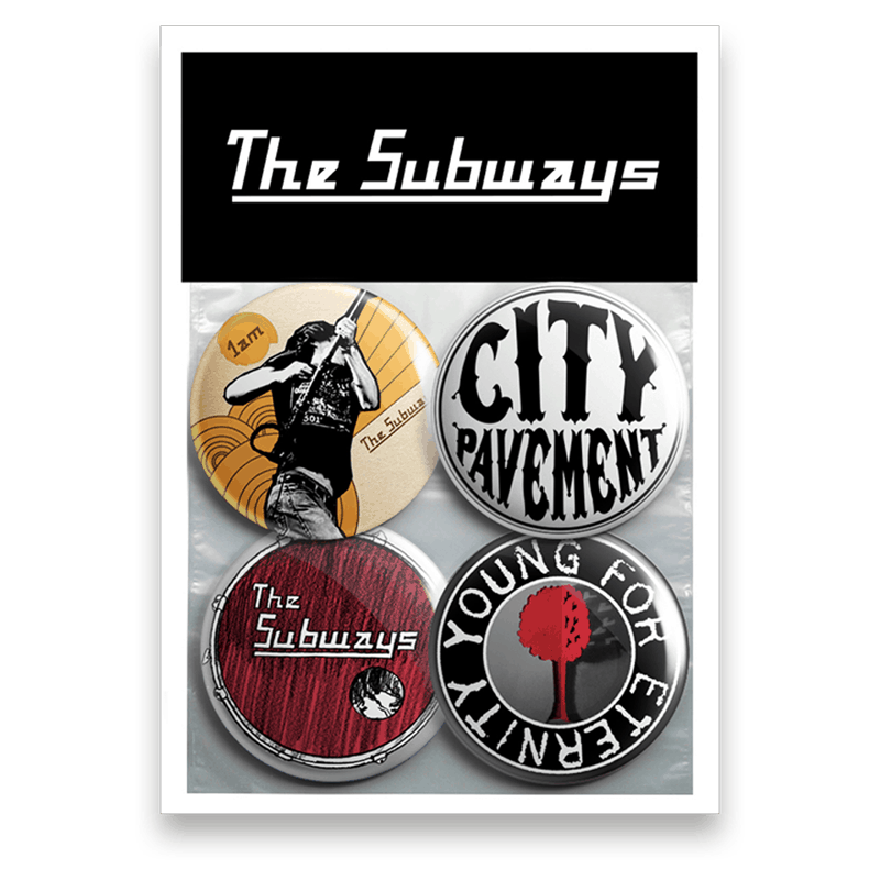 Buy Online The Subways - Young For Eternity Pin Badge Set