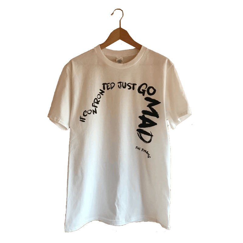 Buy Online The Twang - Text T-Shirt (Black On White)