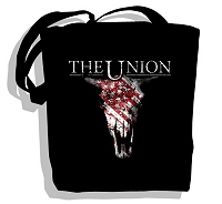 Buy Online The Union - Black Cow Skull Tote Bag