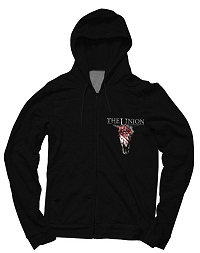 Buy Online The Union - Black Cow Skull Hoody