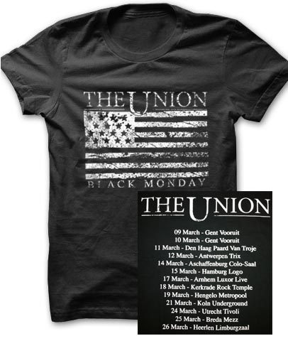 Buy Online The Union - Black Monday Euro Tour T-Shirt