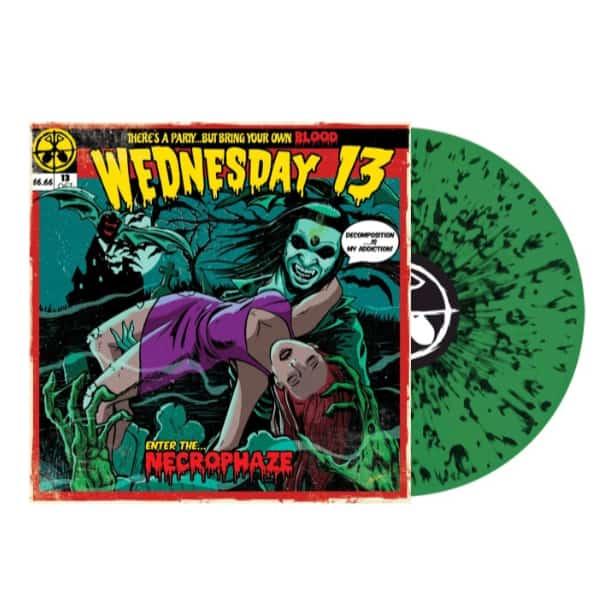 Buy Online Wednesday 13 - Necrophaze Green/Black Splatter