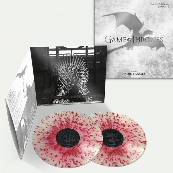 Buy Online Ramin Djawadi - Game Of Thrones Season 3 Stark Blood Spatter Vinyl