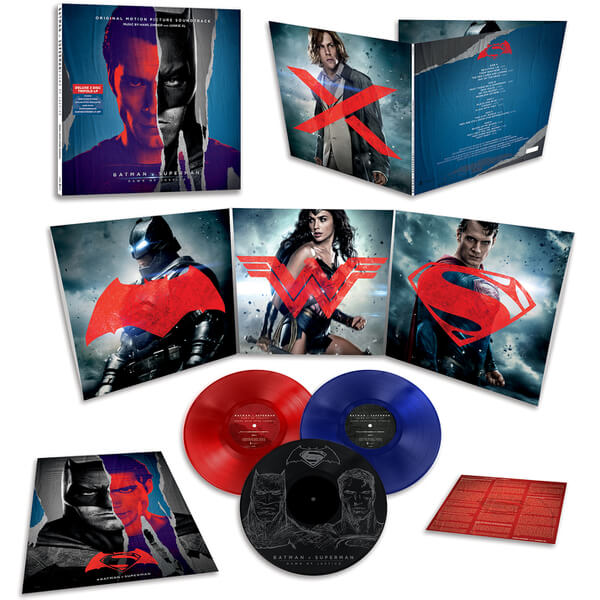 Buy Online Hans Zimmer & Junkie XL - Batman Vs Superman Triple Coloured Vinyl