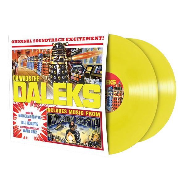 Buy Online Doctor Who - Dcotor Who & The Daleks OST Yellow Vinyl