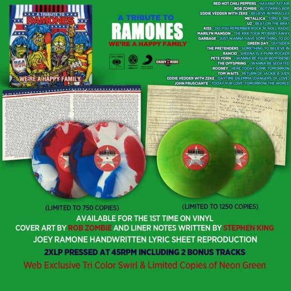 Buy Online A Tribute To Ramones - We're A Happy Family Zombie Green Vinyl (Import)