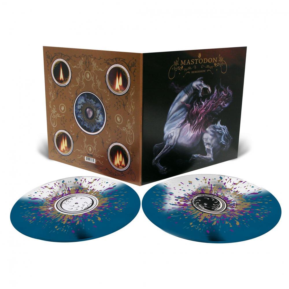 Buy Online Mastodon - Remission Double Vinyl (Blue/White Clear Vinyl w/ Purple/Gold/White Splatter)