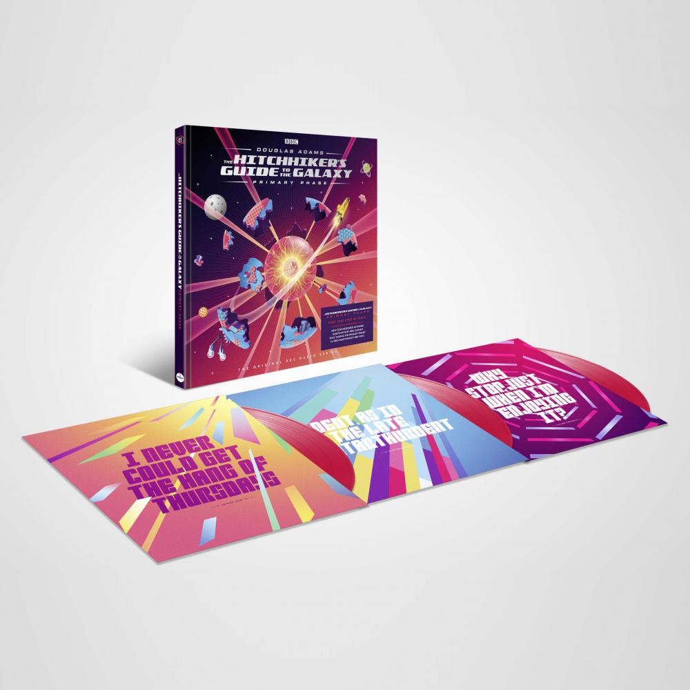 Buy Online Various Artists - The Hitchhiker's Guide To the Galaxy - Primary Phase Triple Coloured Vinyl w/ Hardback Book