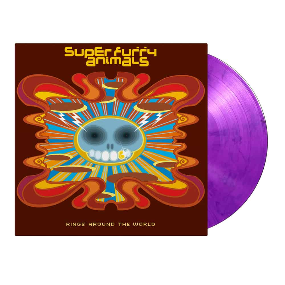 Buy Online Super Furry Animals - Rings Around The World Double Coloured Vinyl + 7-Inch