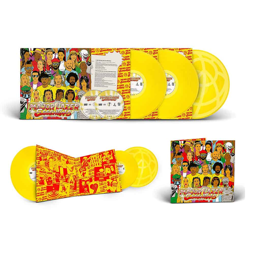 Buy Online Major Lazer - Major Lazer Essentials Coloured 3LP Vinyl + 2CD