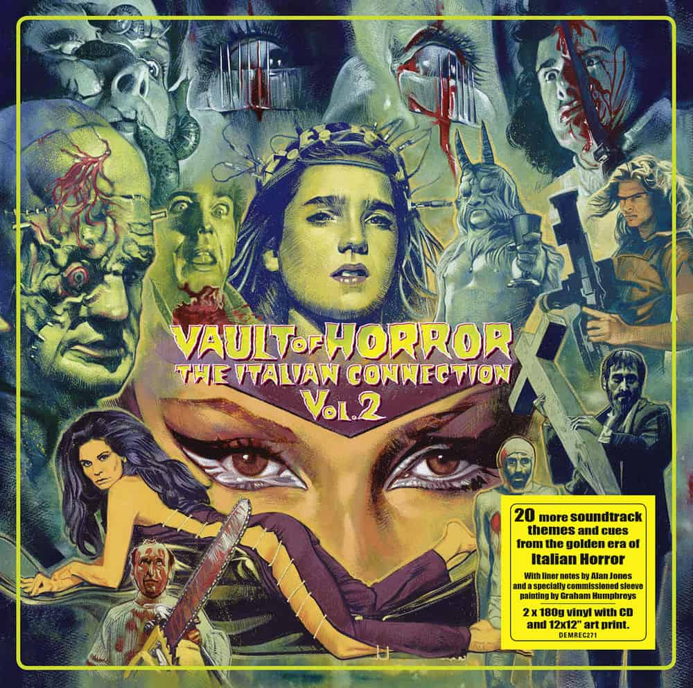 Buy Online Various Artists - Vault Of Horror: The Italian Connection Vol.2 Double Vinyl + CD + Print