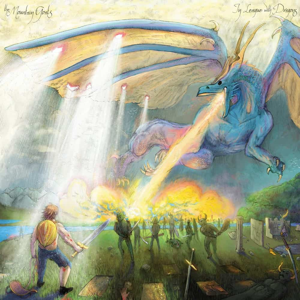 Buy Online The Mountain Goats - In League With Dragons Double Green Vinyl + Black 7-Inch Vinyl