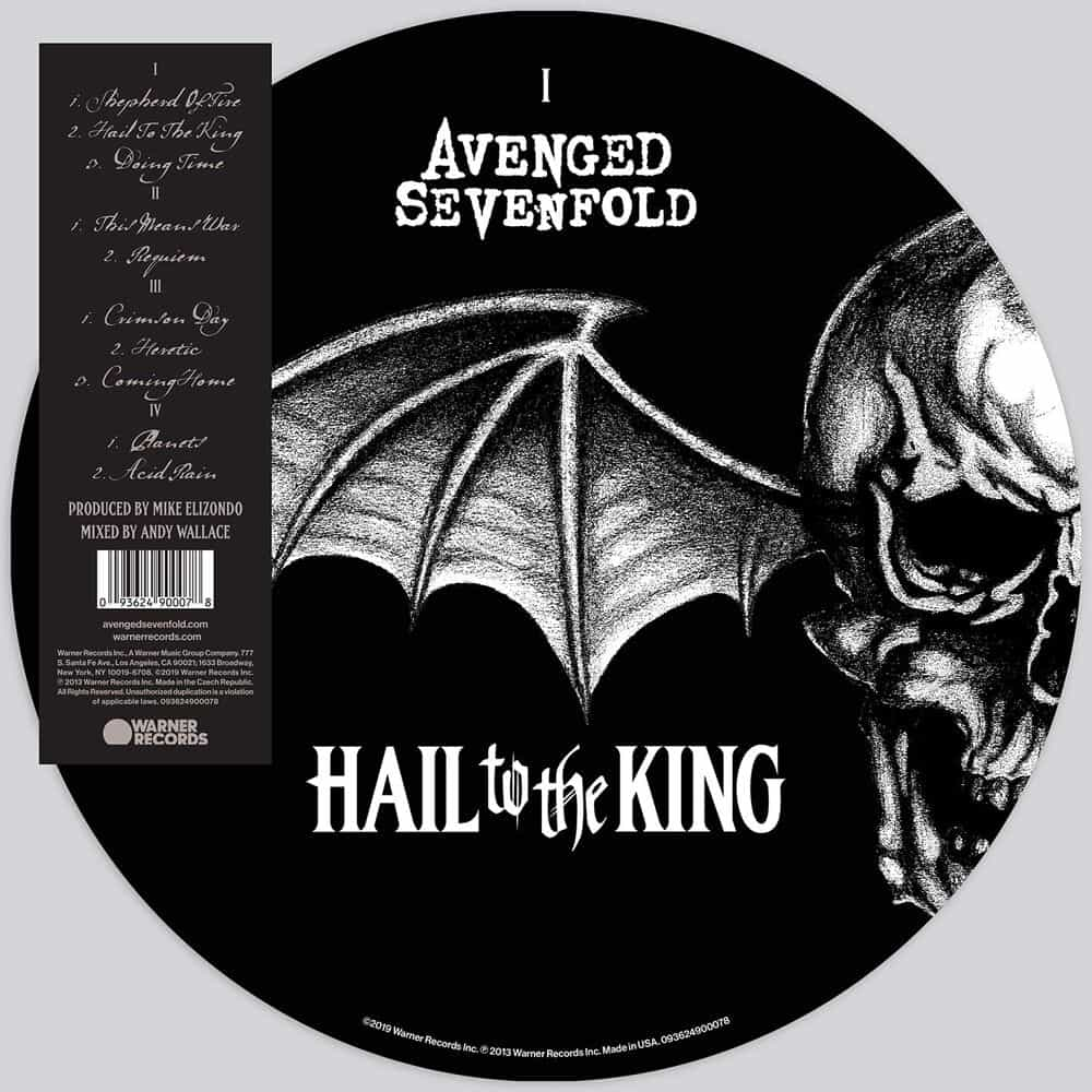 Buy Online Avenged Sevenfold - Hail To The King Double Picture Disc