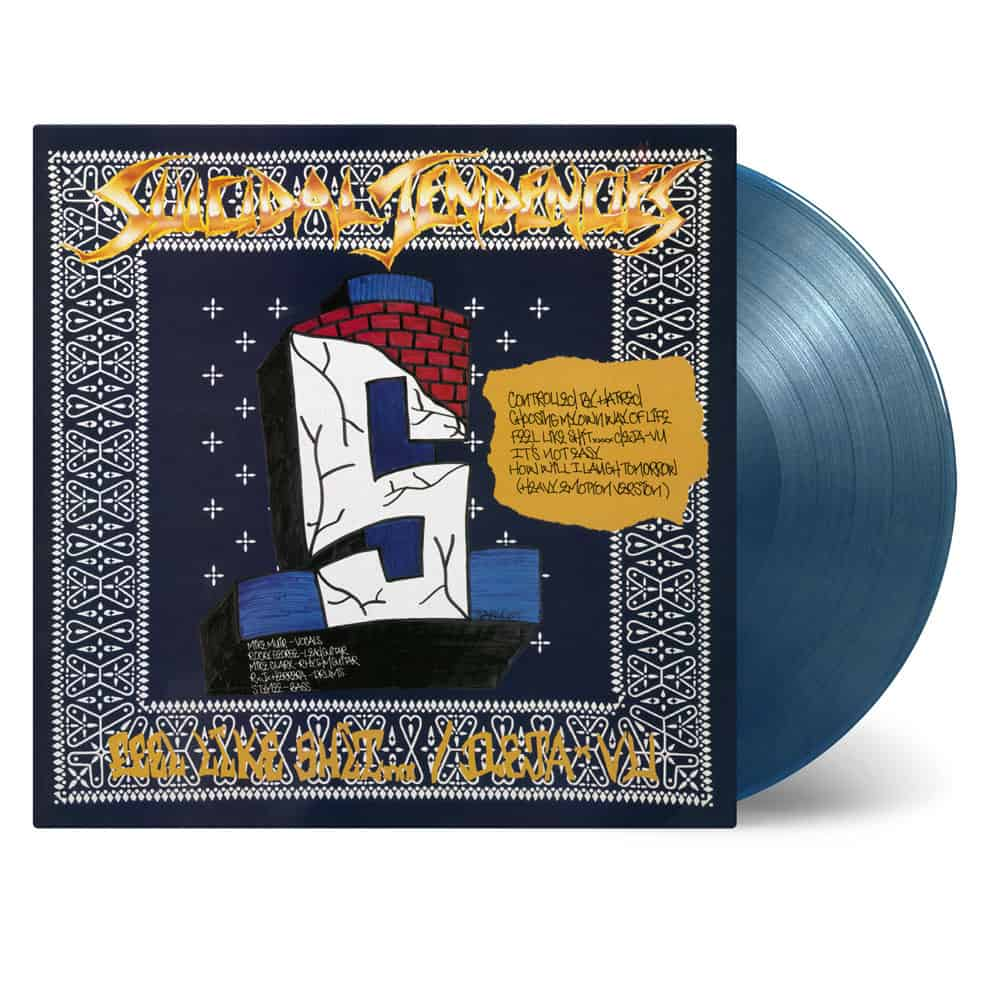 Buy Online Suicidal Tendencies - Controlled by Hatred / Feel Like Shit... Deja-Vu Blue & Gold Swirl