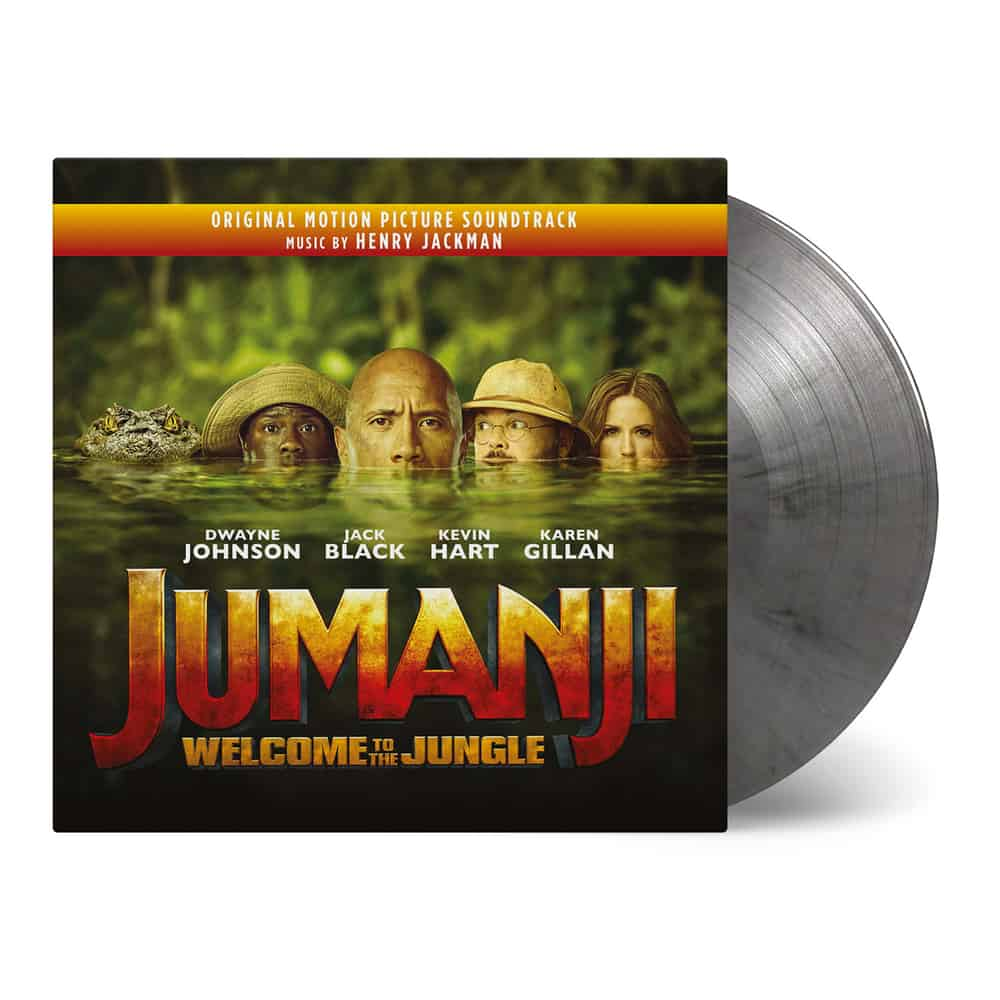 Buy Online Henry Jackman - Jumanji: Welcome To The Jungle OST Double Heavyweight Silver/Black Marble Vinyl