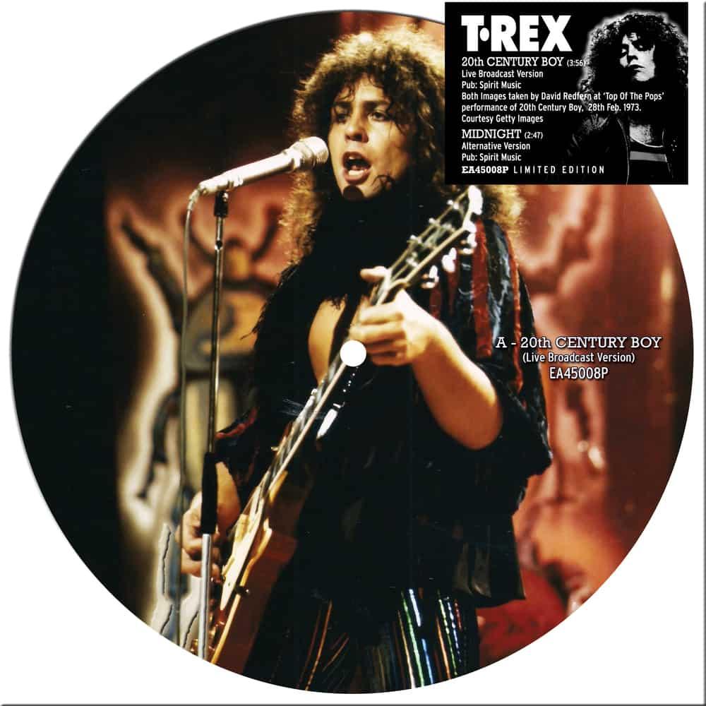 Buy Online T. Rex - 20th Century Boy / Midnight Picture Disc