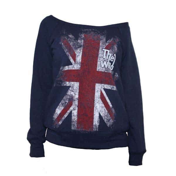Buy Online The Who  - Union Jack Girls Navy Sweatshirt