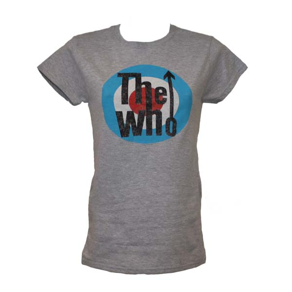 Buy Online The Who  - Classic Girls Heather Grey T-Shirt