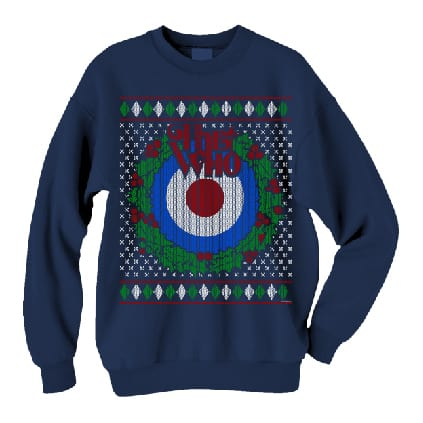 Buy Online The Who  - 2015 Target Wreath Christmas Blue Unisex Sweater