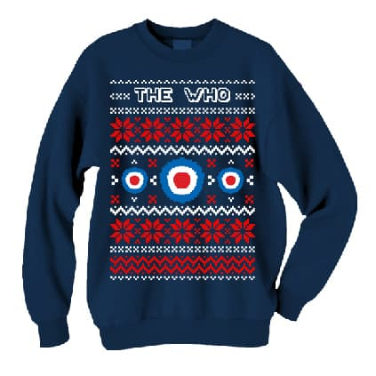 Buy Online The Who  - 2015 Target Warmth Christmas Blue Unisex Sweater
