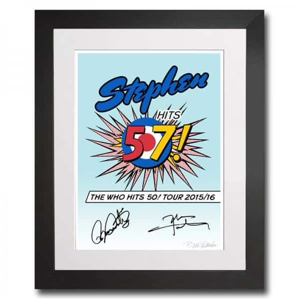 Buy Online The Who - Personalised Art Print Signed By Roger Daltrey & Pete Townshend