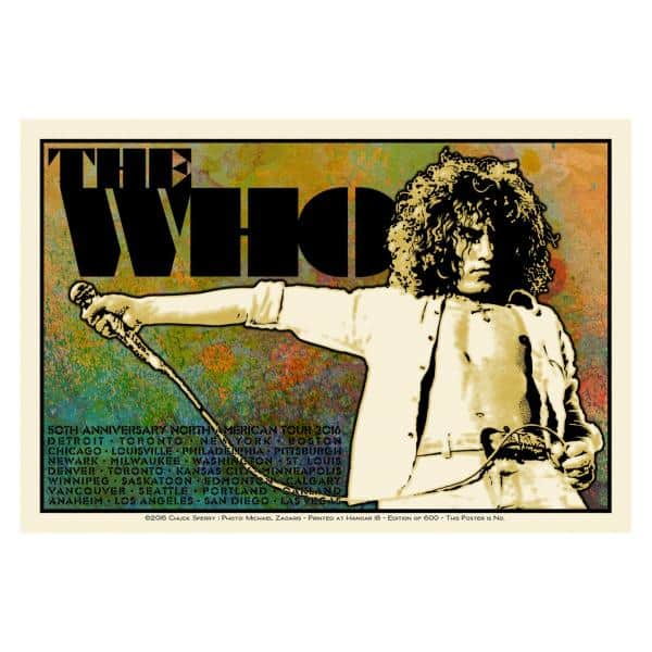 Buy Online The Who  - Chuck Sperry Limited Edition 2016 US Tour Poster - Roger Version