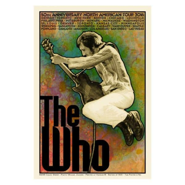 Buy Online The Who  - Chuck Sperry Limited Edition 2016 US Tour Poster - Pete Version