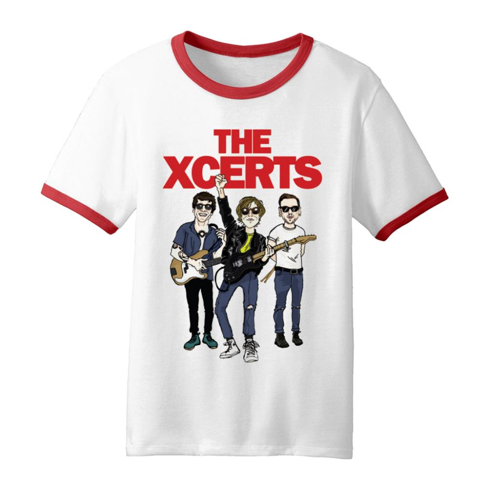 Buy Online The Xcerts - Cartoon Ringer T-Shirt
