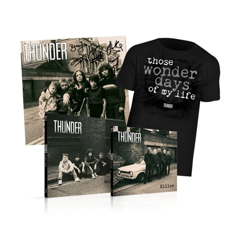 Buy Online Thunder - Wonder Days - Deluxe CD, T-Shirt & Signed Print Bundle